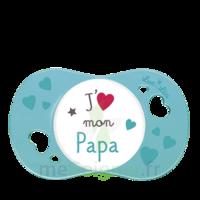 """Luc et Léa Sucette symétrique +6mois """"j'aime mon papa"""" B/1 à Paris"""